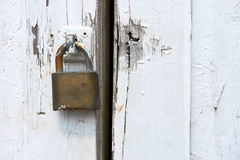 Vieille serrure de porte rouillée Image libre de droits