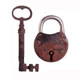 Vieille serrure et vieille clé images libres de droits
