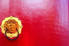 Vieille serrure sur la porte Photo libre de droits