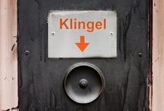 Vieille sonnette Allemagne Photographie stock libre de droits
