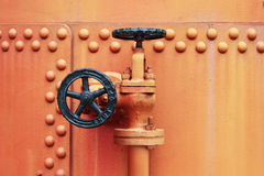 Vieille soupape de robinet Image libre de droits