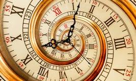 Vieille spirale antique de fractale d'abrégé sur horloge Observez le fond abstrait peu commun de modèle de fractale de texture de Image libre de droits