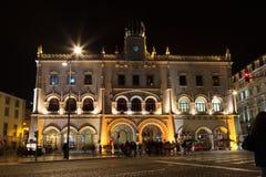 Vieille station centrale de LISBONNE Rossio Photographie stock libre de droits