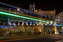 Vieille station centrale de LISBONNE Rossio Images libres de droits