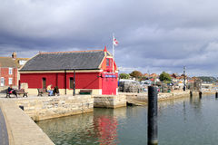 Vieille station de canot de sauvetage, Poole, Dorset photos stock