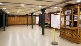 Vieille station de métro de Budapest Photo libre de droits
