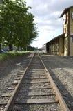 Vieille station de train américaine de ville Photographie stock libre de droits