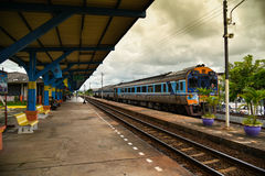Vieille station de train chez Buri Ram Images stock