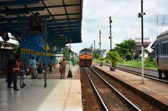 Vieille station de train chez Buri Ram Photographie stock