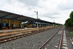 Vieille station de train chez Buri Ram Images libres de droits