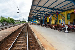Vieille station de train chez Buri Ram Photos stock