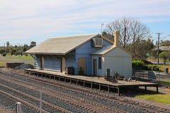 Vieille station de train de cargaison photo stock