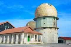 Vieille station radar portugal Photographie stock libre de droits