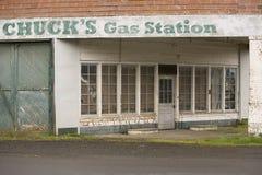 Vieille station service rurale Images libres de droits