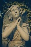 Vieille statue d'ange, peine Images stock