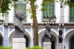 Vieille statue d'antiguo de viejo de casco de Panamá City Images libres de droits