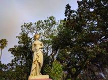 vieille statue dans des ruines argentines photographie stock