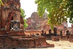 Vieille statue de Bouddha Photo stock