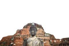 Vieille statue de Bouddha dans le temple Image libre de droits
