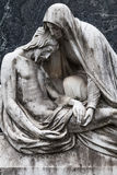 Vieille statue de cimetière Images libres de droits