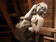 Vieille statue faite en pierre Image stock