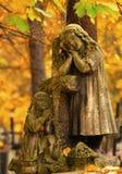 Vieille statue grave Photographie stock