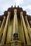 Vieille statue Wat Phra Kaew, temple de l'émeraude, Bangkok de budda Images stock