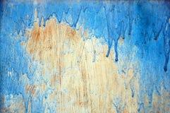 Vieille surface avec les taches bleues Photographie stock libre de droits