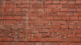Vieille surface de mur de briques rouge comme fond banque de vidéos