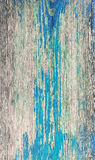 Vieille surface en bois peinte Photos libres de droits