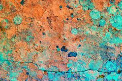 Vieille surface en pierre Fond coloré de texture images libres de droits