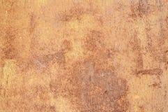 Vieille surface métallique rouillée superficielle par les agents photos libres de droits