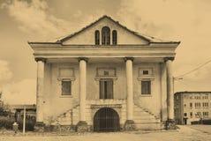 Vieille synagogue dans Klimontow. La Pologne Photos stock
