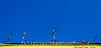 vieille télévision d'antenne Photographie stock libre de droits