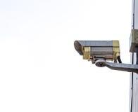 Vieille télévision en circuit fermé Photographie stock libre de droits