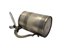 Vieille tasse en métal Image stock