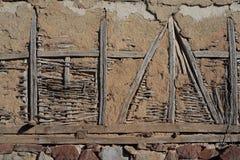 Vieille texture abandonnée de mur. Images libres de droits