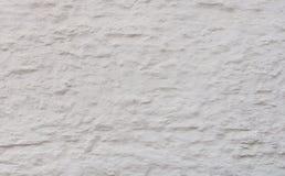 Vieille texture blanche de stuc de mur Image libre de droits