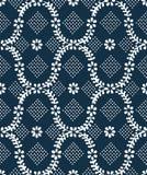 Vieille texture bleue de cru Photos libres de droits