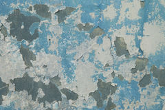 Vieille texture bleue de mur Image stock