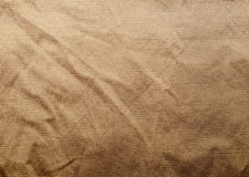 Vieille texture crampled de tissu Photographie stock