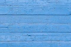 Vieille texture criquée bleue de fond de peinture de planche en bois photos stock