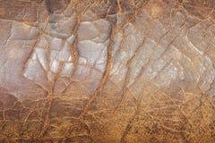 Vieille texture criquée de chaise en cuir jpg Photo libre de droits