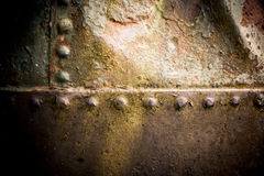Vieille texture de fer avec des rivets photographie stock