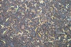 Vieille texture de la route noire en pierre photo stock