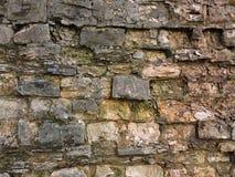 Vieille texture de mur de briques de fond cru Photos libres de droits
