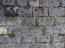 Vieille texture de mur de briques de fond cru Image libre de droits