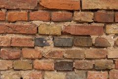 Vieille texture de mur de briques de couleur Photographie stock