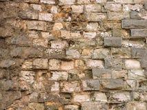 Vieille texture de mur de briques de fond cru Photos stock