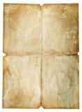 Vieille texture de papier de cru d'isolement sur le blanc Photographie stock libre de droits